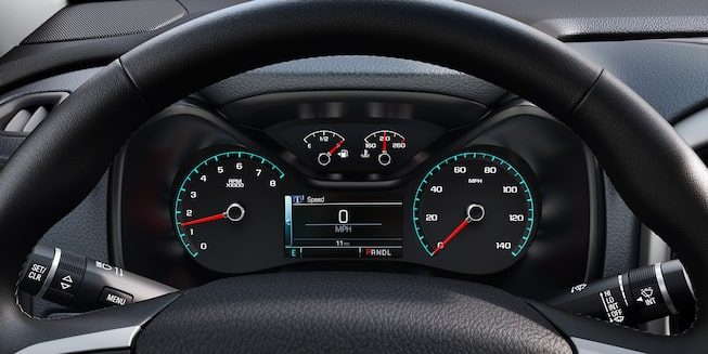 Interior view of the 2019 Chevy Colorado mid-size work truck's front dashboard.