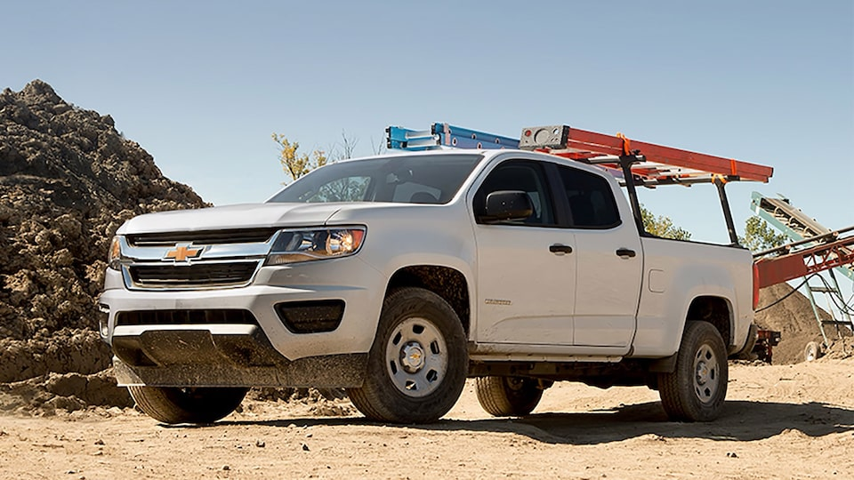 The 2019 Chevrolet Colorado Commercial work truck with utility rack.