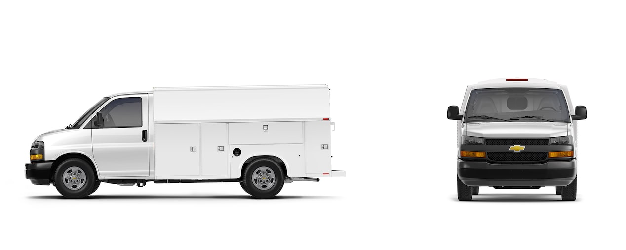 Utility upfit for the 2019 Chevrolet Express Cutaway