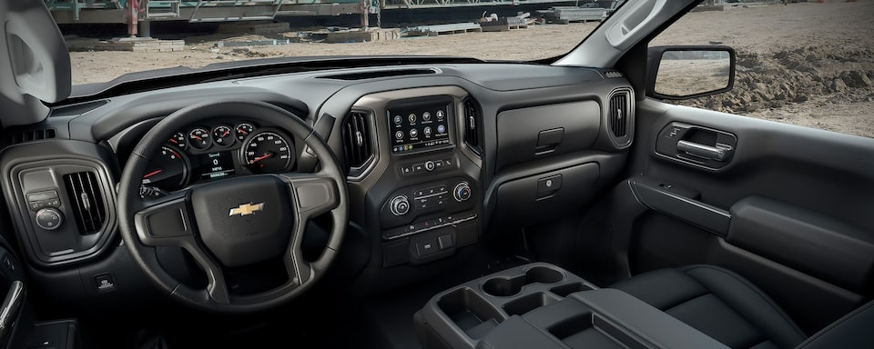 Interior view of 2019 Chevrolet Silverado Commercial.