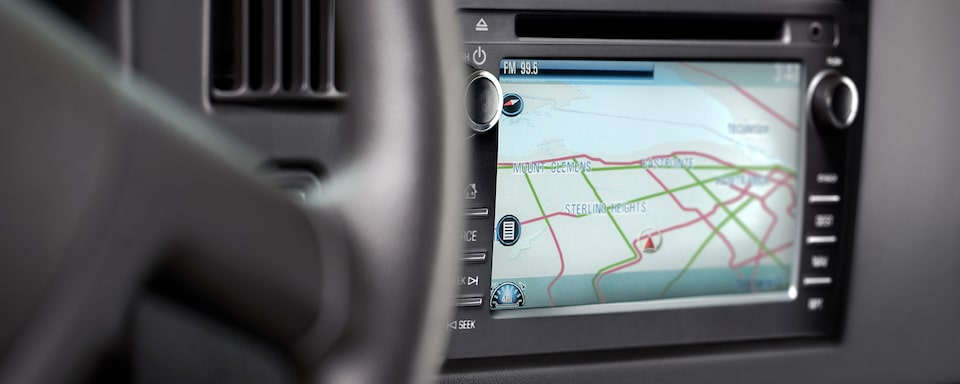 Available Navigation On 2020 Express Cutaway Work Van.