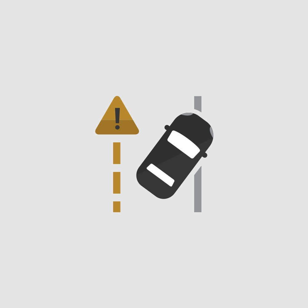 Lane Departure Warning Icon.