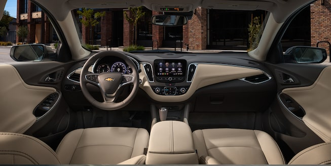 Malibu mid-size car design: interior dashboard.