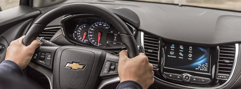 A Chevrolet dashboard with OnStar capability.