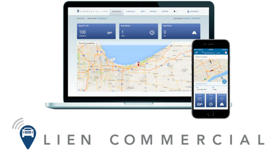 The Commercial Link vehicle management system through OnStar.